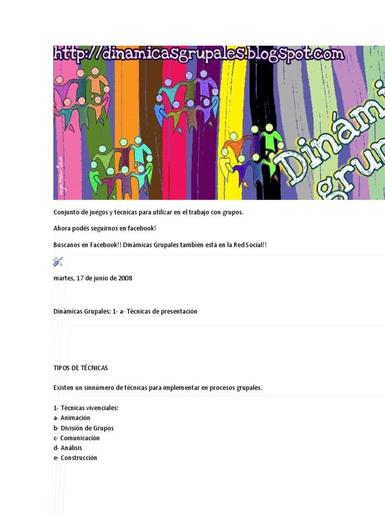 Conjunto De Juegos Y Tecnicas Para Utilizar En El Trabajo Con Grupo1
