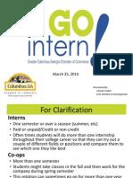 GO Intern! Introduction Presentation 3 25 14