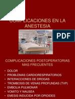 Complicaciones en La Anestesia