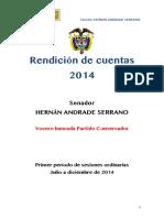 Informe de Gestión H.S. Hernán Andrade
