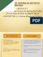 CURSO Taller de Sistemas de Gestion de Inocuidad Alimentaria, MODULO 1 - NORMA MURUGUZA CRISPIN