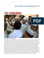 Muslim Congress Falls Into Sinking Boat of Mahinda