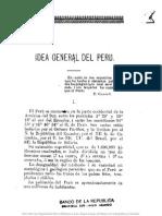 Carrey, A - Idea General Del Peru (1903)