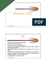 Initiation a SQL