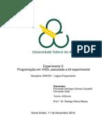 Relatório_Exp2_Programação Em VHDL Associada a Kit Experimental_Lógica Programável_Quad5.2