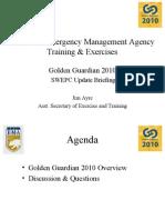 Golden Guardian 2010 (California Emergency Management Agency Training & Exercises)