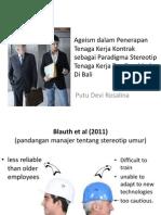 Ageism Dalam Penerapan Tenaga Kerja Kontrak