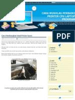 Cara Membongkar Head Printer Epson _ Cara Mukhlas Perbaiki Printer Cpu Laptop Program