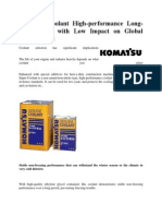 Komatsu Coolant High-performance Long-life Coolant With Low Impact on Global Environment