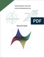 Aplikasi Maple Dalam Pada Materi Kalkulus Peubah Banyak Edisi 1