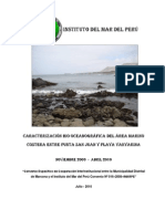 Caracterizacion Bioceanografica Del Area Marino Costera