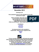The Secret of Light Newsletter - December 2012