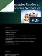 Medicamentos Usados en Emergencias Neonatales