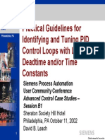 Practical Guidelines for Identifying & Tuning PID Ctl Loops