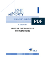 Transfer of Product Licence