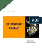 Certificacion de Cableado