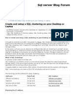 Create and Setup a SQL Clustering on Your Desktop or Laptop