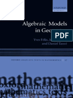 Algebraic Models In Geometry
