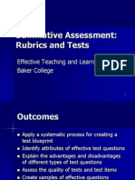 SUMMATIVE EVALUATION-RUBRIC AND TEST.ppt