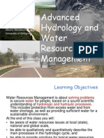 Lecture 1 - water resources