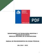 Manual Procedimiento de Ayudas Técnicas 2014 - 2015
