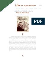 Walter Benjamin, Tesis de de filosofía de la historia