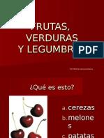 LÉXICO ESPAÑOL.Frutas, verduras y legumbres