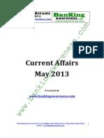 Current Affairs May - 2013_www.bankingawareness.com