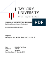 Caleb Ong Yan Weng 0315460 Building Science 2 Project Integration