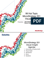 IM Hot Topic - MicroStrategy 201 Visual Insight 20140919