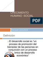 Crecimiento Humano -Social