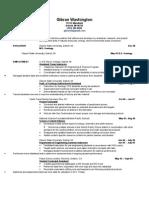 Chronological Resume- Gibran Washington