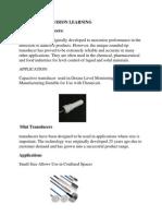 Capacitive Transducers