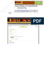 manual rpido para trabajar con el backoffice de only one pay