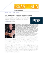 Pat Miletich Gym Closing