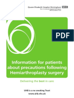 precautions following hemiarthoplasty.pdf