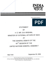 Indian statement in the UN