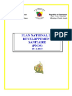 Cameroon National Health Plan 2011-2015 French