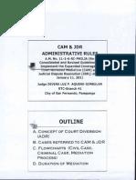 Cam & Jdr Admin Rules