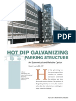 Hot Dip Galvanizing in Parking Structure(3)