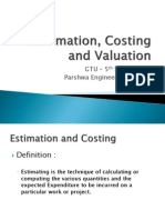 Estimation, Costing and Valuation