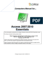 1 Access 2007 2010 Essentials