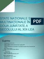 State Nationale Si Multinationale in a Doua Jumatate
