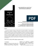 Guia Para Implantação de APPCC Em Indústria de Alimentos