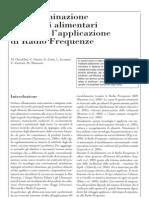 Decontaminazione Di Matrici Alimentari Mediante l'applicazione Di
