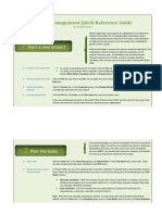 Project Management 2010 Quick Reference Guide