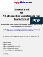 NISM SORM certification Question Bank
