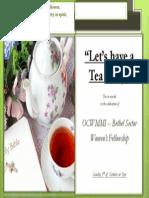 tea party invitation layout