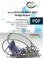Design Report for the Trike in EFFICYLE 2013 SAE India