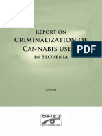 Report on Criminalization of Cannabis Users in Slovenia